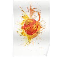 Sun Galaxy Painting Poster