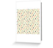 Colored stars Greeting Card