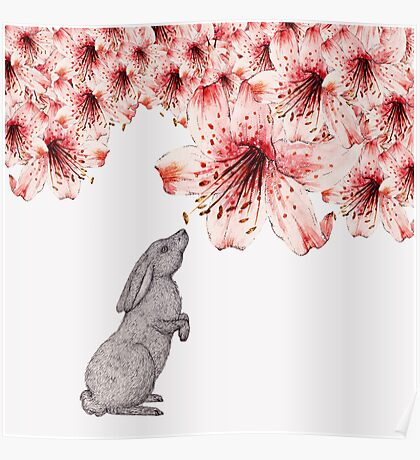 Smelling the Flowers Poster