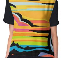 Fast Car - Abstract Graphic Chiffon Top