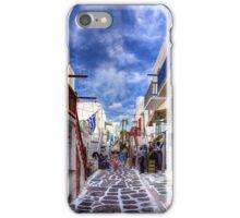 Market Day in Mykonos iPhone Case/Skin