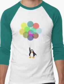 Penguin & Balloons Men's Baseball ¾ T-Shirt