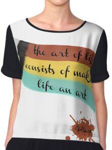 The art of life Chiffon Top