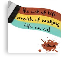 The art of life Canvas Print