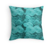 Small Tiffany Aqua Blue and White Water Air Bubbles Throw Pillow