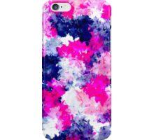 Modern pink purple watercolor brushstrokes iPhone Case/Skin