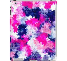 Modern pink purple watercolor brushstrokes iPad Case/Skin