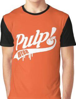 PULP! Baseball Swoosh White Graphic T-Shirt