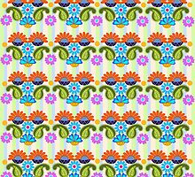 Cute Colourful Paisley & Fantasy Flowers by walstraasart