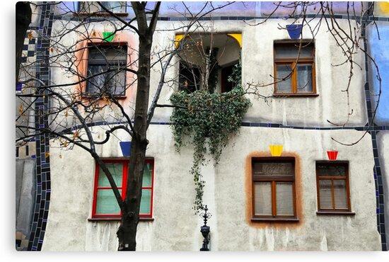 Windows of the Hundertwasserhaus by Igor Shrayer