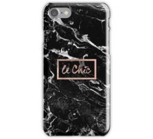 Rose gold marble stylish french le chic typography  iPhone Case/Skin