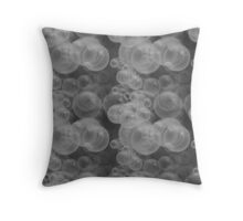 Small Black & White Water Air Bubbles Throw Pillow
