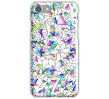 Modern watercolor geometric triangles floral  iPhone Case/Skin