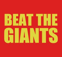 San Francisco 49ers - BEAT THE GIANTS - Gold text by MOHAWK99
