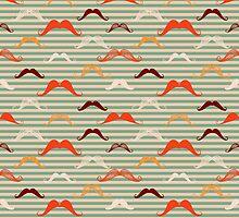 Mustache background in vintage style.  by Kollibri
