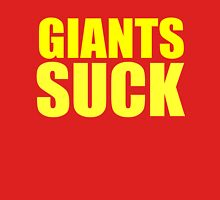 San Francisco 49ers - GIANTS SUCK - Gold Text Unisex T-Shirt