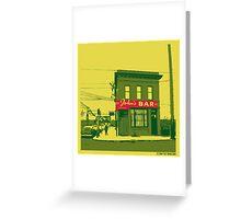 John's Bar Greeting Card