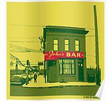 John's Bar Poster