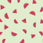 Watermelon pattern !  by amadreamart