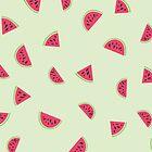 Watermelon pattern !  by amadreamart