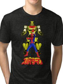 Supaidaman!  CHANGE LEOPARDON!!! (Version 3) Tri-blend T-Shirt