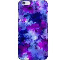 Modern blue purple watercolor brushstrokes iPhone Case/Skin