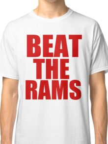 San Francisco 49ers - BEAT THE RAMS - Red Text Classic T-Shirt