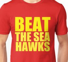 San Francisco 49ers - BEAT THE SEAHAWKS - Gold Text Unisex T-Shirt