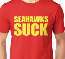 San Francisco 49ers - SEAHAWKS SUCK - Gold text Unisex T-Shirt
