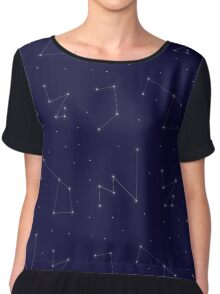 Constellations Pattern Chiffon Top