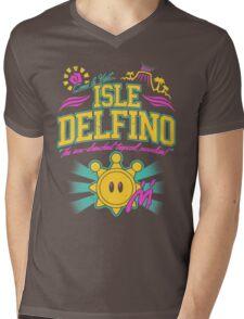 Isle Delfino Mens V-Neck T-Shirt