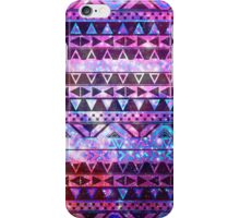 Girly Andes Aztec Pattern Pink Teal Nebula Galaxy iPhone Case/Skin