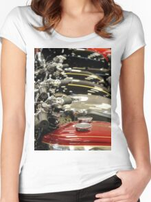 Petrol Tanks all in a row Women's Fitted Scoop T-Shirt
