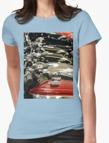 Petrol Tanks all in a row Womens Fitted T-Shirt