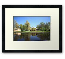 Graffiti in the city garden Framed Print