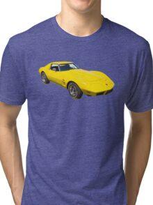 1975 Corvette Stingray Muscle Car Tri-blend T-Shirt