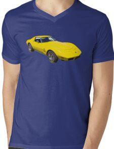 1975 Corvette Stingray Muscle Car Mens V-Neck T-Shirt
