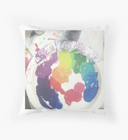 pallette Throw Pillow