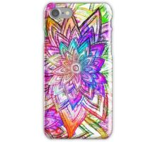 Colorful Vintage Floral Pattern Drawing Watercolor iPhone Case/Skin