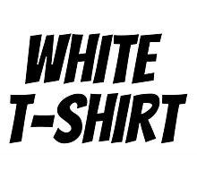 "JONGHYUN ""White T-Shirt"" Logo Photographic Print"