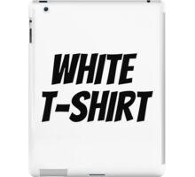 """JONGHYUN """"White T-Shirt"""" Logo iPad Case/Skin"""