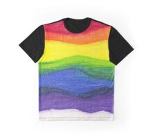 Colored pencil rainbow on textured paper Graphic T-Shirt