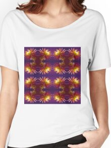 Pink Dahlia flower pattern Women's Relaxed Fit T-Shirt