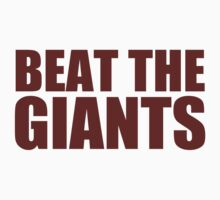 Washington Redskins - BEAT THE GIANTS - Red text by MOHAWK99