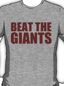 Washington Redskins - BEAT THE GIANTS - Red text T-Shirt