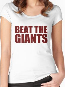 Washington Redskins - BEAT THE GIANTS - Red text Women's Fitted Scoop T-Shirt