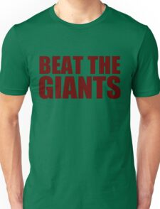 Washington Redskins - BEAT THE GIANTS - Red text Unisex T-Shirt