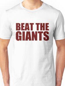Washington Redskins - BEAT THE GIANTS - Red text Unisex T-Shirt