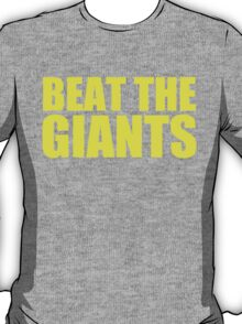 Washington Redskins - BEAT THE GIANTS - Yellow text T-Shirt