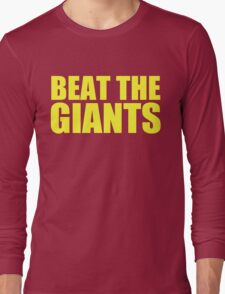 Washington Redskins - BEAT THE GIANTS - Yellow text Long Sleeve T-Shirt